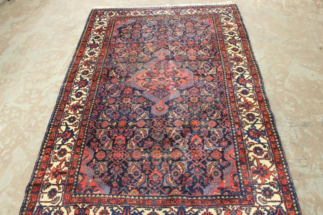 LOVELY ANTIQUE THICK PILE COLORFUL ORIENTAL RUG NEAR MI