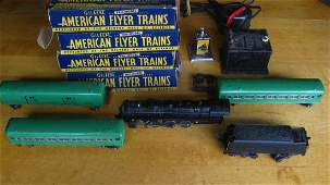 AMERICAN FLYER FIVE PIECE SET #5640 WITH ORIGINAL BOXES