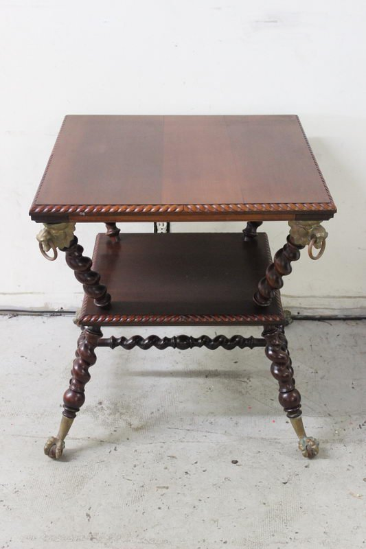 VERY NICE STAND WITH TWISTED LEGS, BALL AND CLAW BRASS
