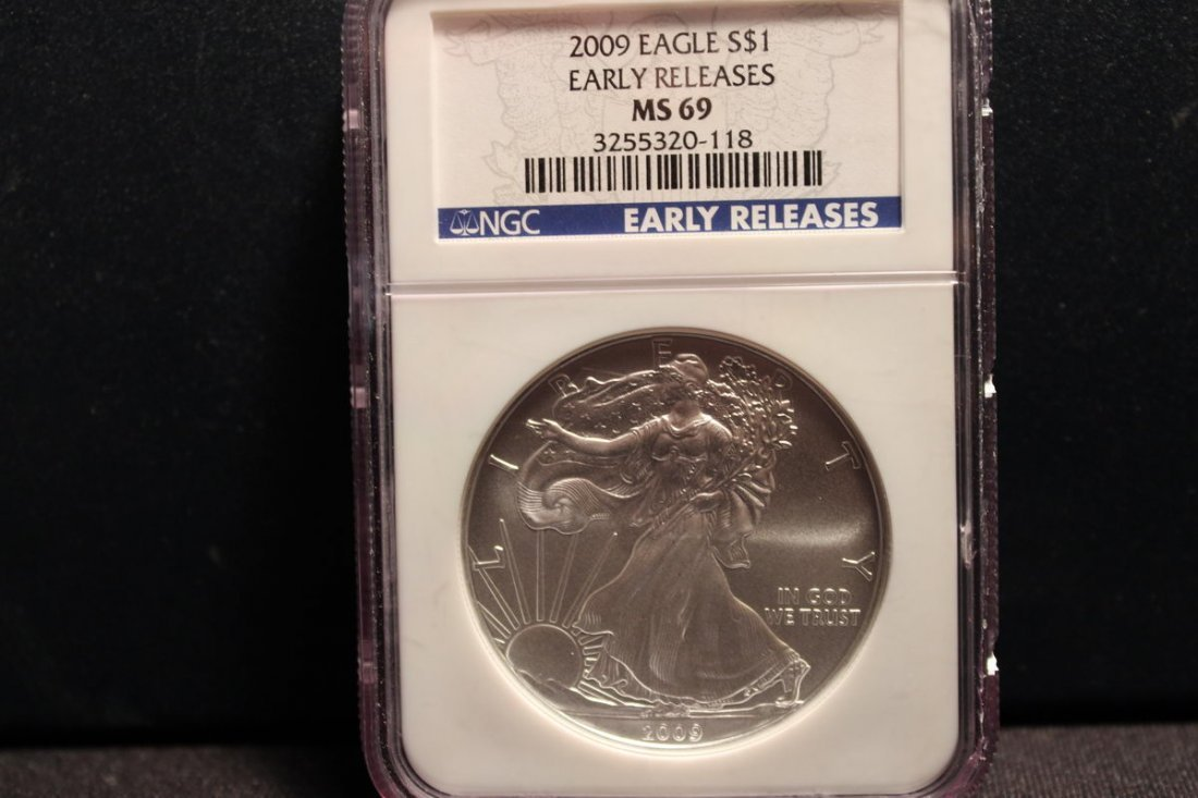 2009 SILVER EAGLE EARLY RELEASE MS 69 GRADE