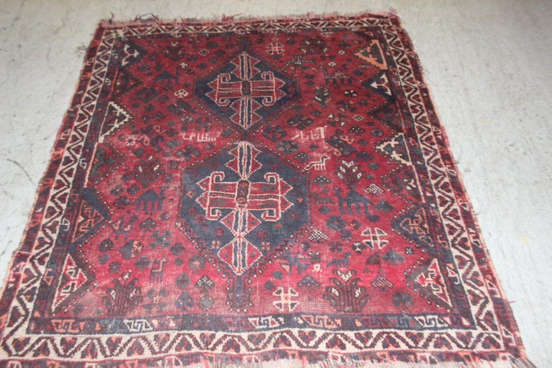 SMALL OLD ORIENTAL RUG 65 X 55
