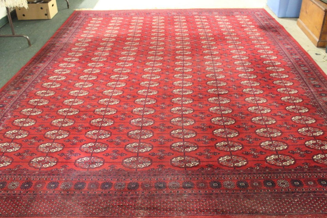 CASHMERE IMPORTED ORIENTAL RUG 100% WOOL 13.6 X 9.1 -