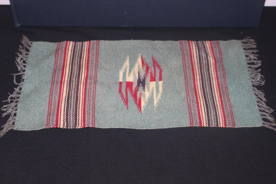 VINTAGE NATIVE AMERICAN RUG BELIEVED TO BE MADE BY