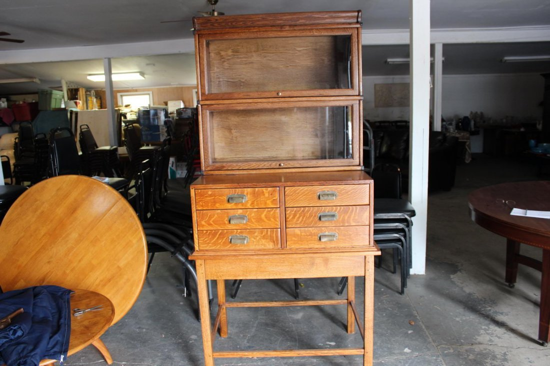 TRULY GREAT AND UNUSUAL OAK 6 DRAWER FILE CABINET WITH