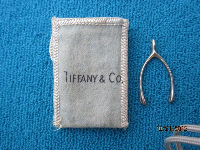 NICE STERLING TIFFANY AND COMPANY WISHBONE PIN WITH