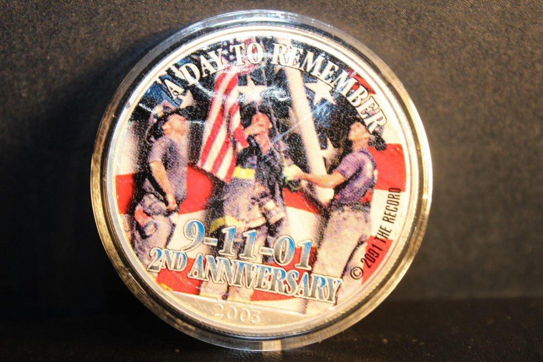 2002 SECOND ANNIVERSARY 9-11-2001 AMERICAN SILVER EAGLE