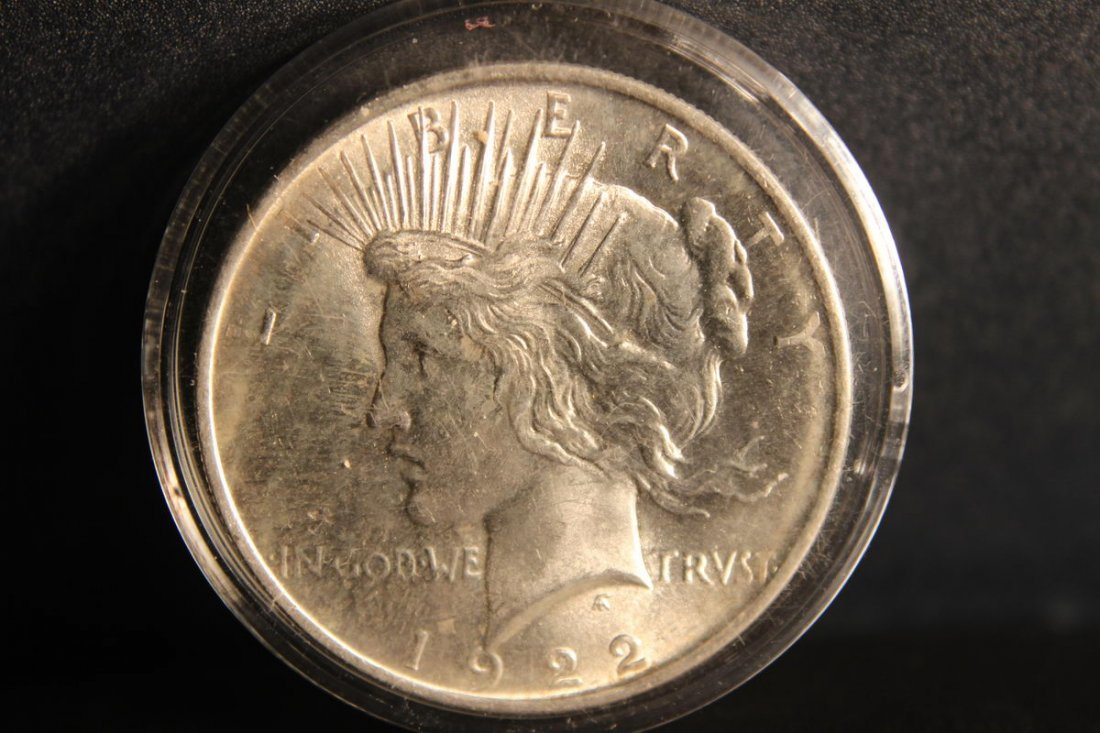 1922 PEACE DOLLAR B.U.