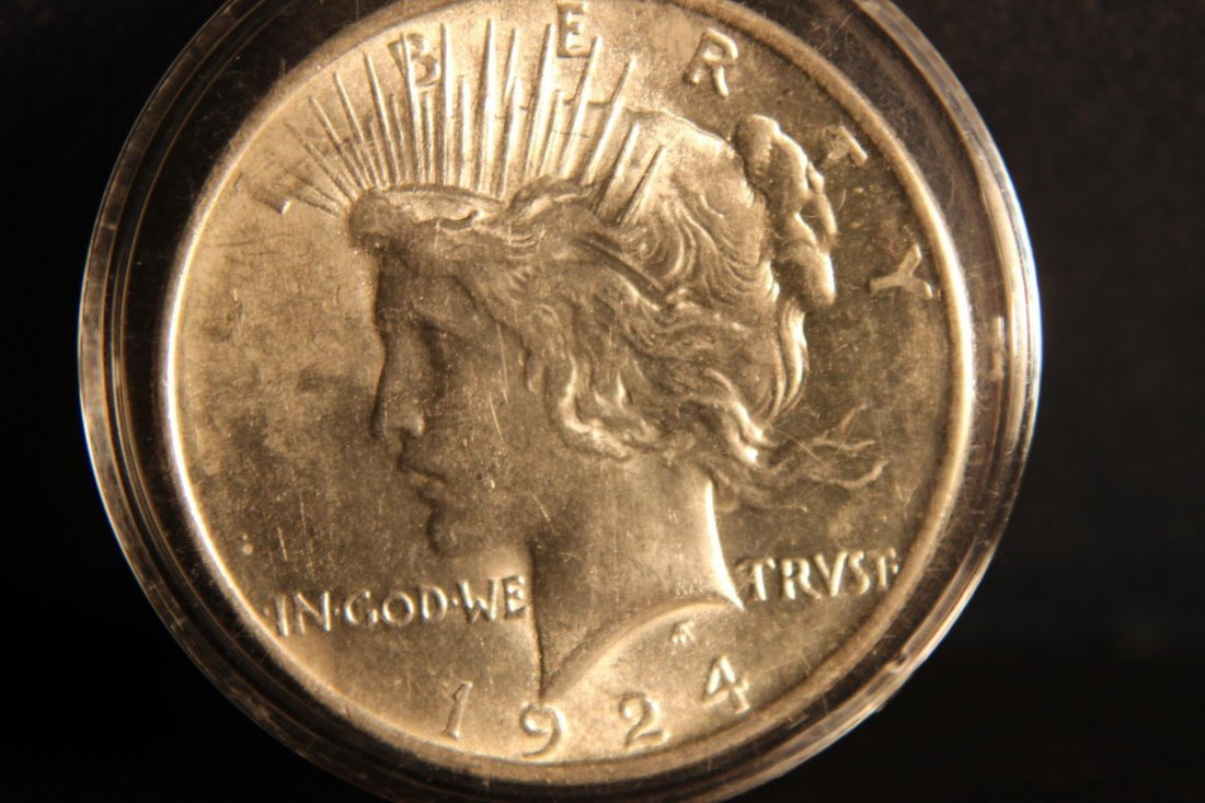 1924 PEACE DOLLAR B.U.