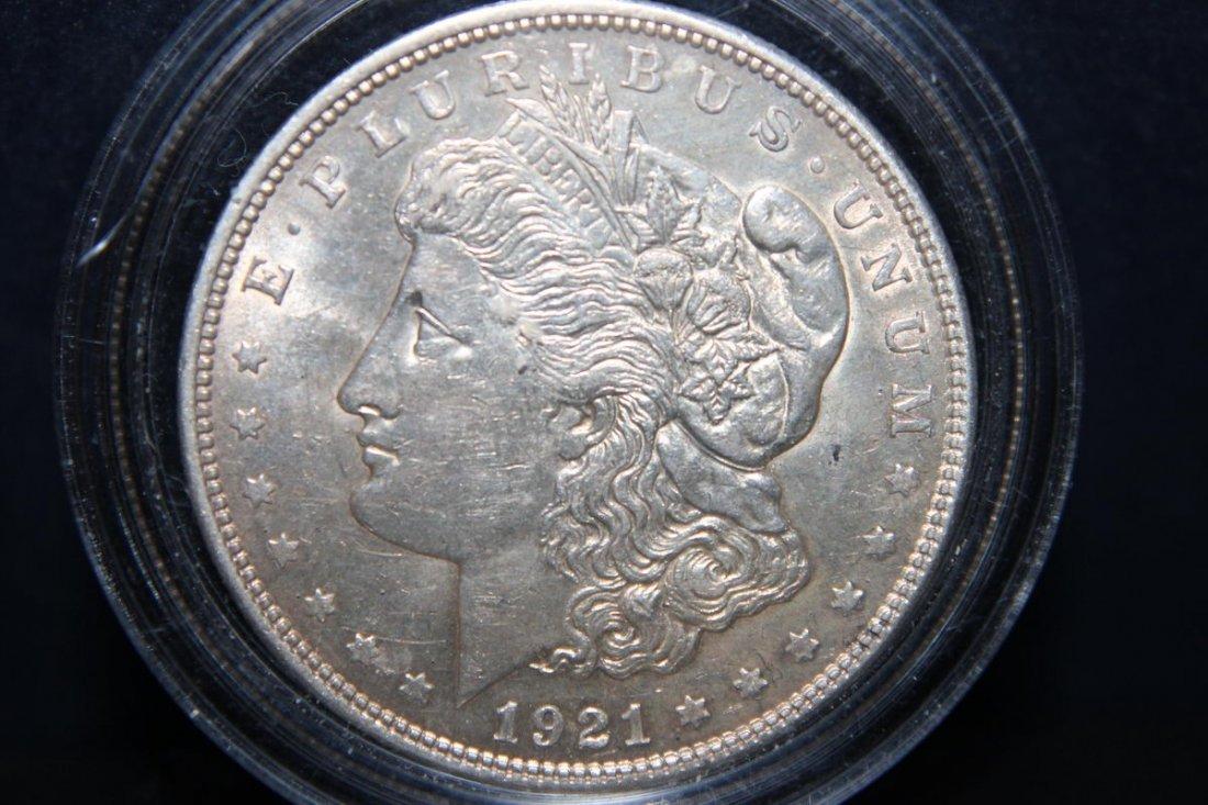 1921 MORGAN DOLLAR A.U.