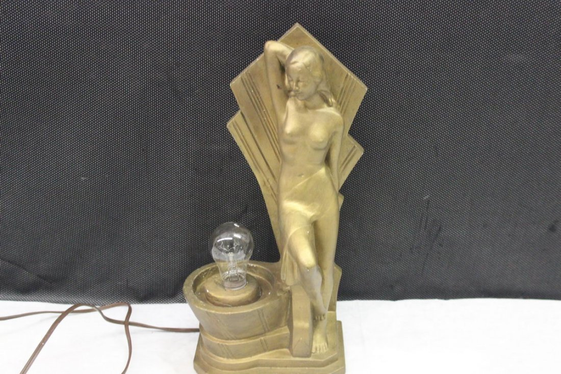 LOVELY DECO TYPE LAMP DATED 1935 S.A.N. CO. - PLASTER