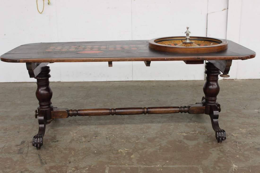 ROULETTE TABLE 1880 VINTAGE THIS IS THE LAST PIECE OF G