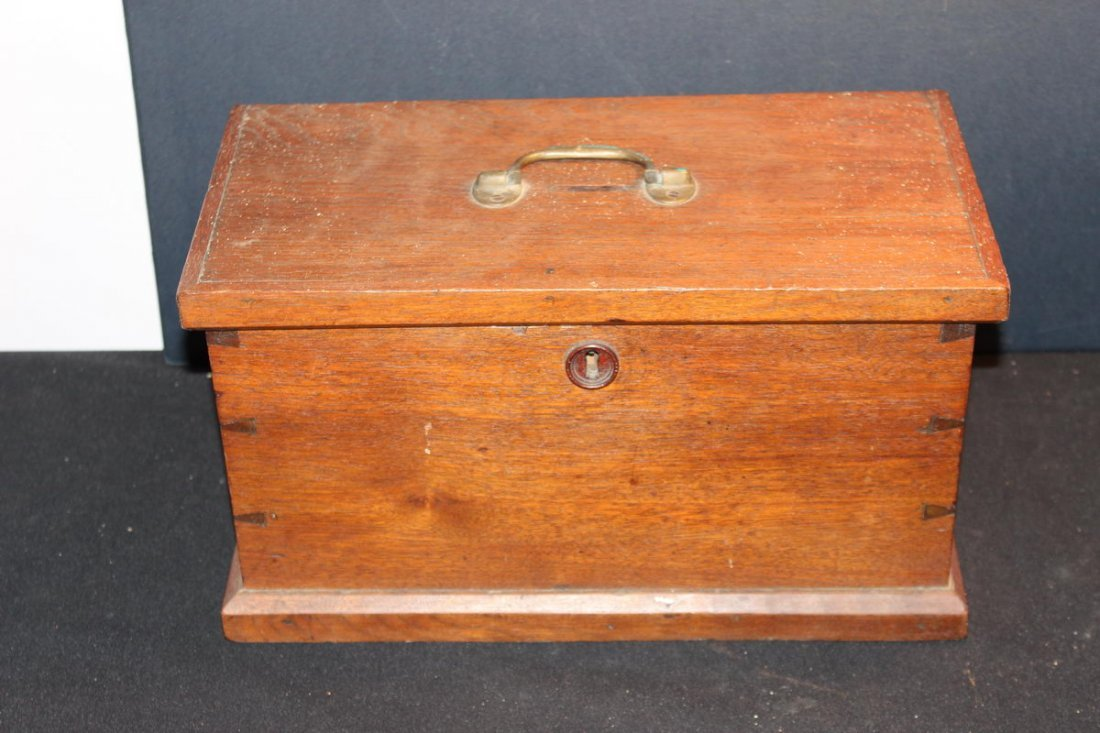 REAL NICE SOLID WALNUT COLLECTION BOX HANDMADE GREAT