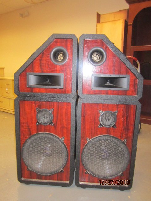 "GREAT PAIR OF PRO STUDIO SPEAKER CABINETS - EACH 49"" BY"