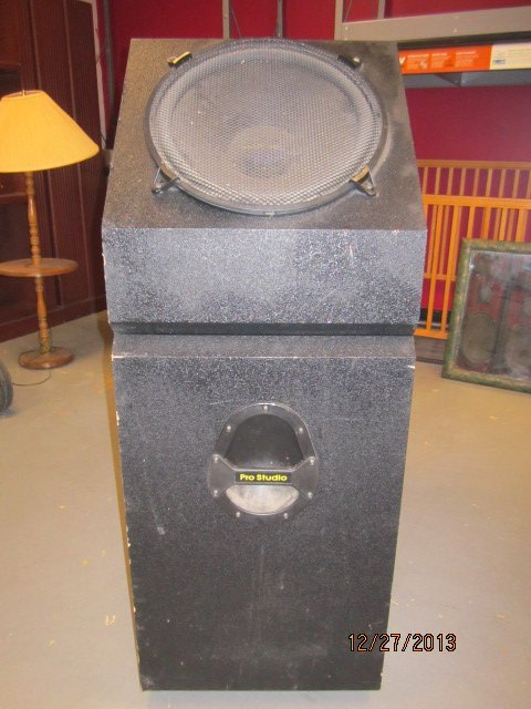 "GREAT PAIR OF PRO STUDIO SPEAKER CABINETS - EACH 49"" BY - 2"