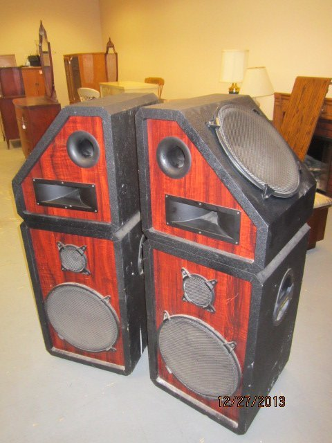 "GREAT PAIR OF PRO STUDIO SPEAKER CABINETS - EACH 49"" BY - 3"
