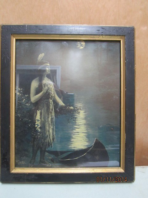 MOONLIGHT INDIAN PRINCESS AND 12 X 15 BLACK AND GOLD