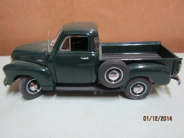 1993 DANBURY MINT 1953 GREEN CHEVY PICKUP WITH