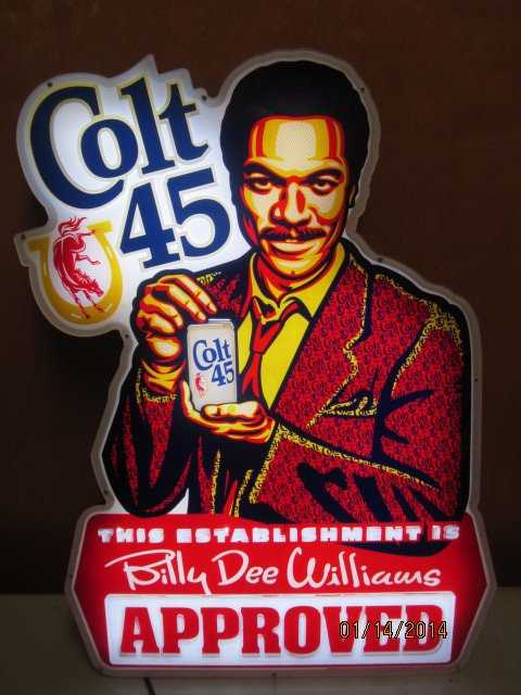 Nice 26 X 19 Billy D Williams Colt 45 Electric Beer