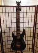 dean, floyd Rose guitar left-handed strung for right