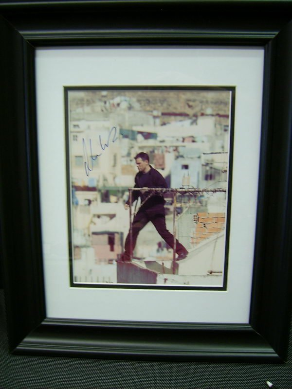 FRAMED PHOTO/AUTOGRAPH OF ACTOR MATT DAMON