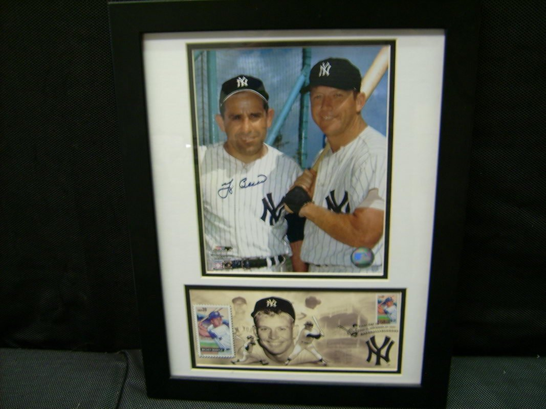 MICKEY MANTLE/YOGI BERRA AUTOGRAPHED PICTURE W/