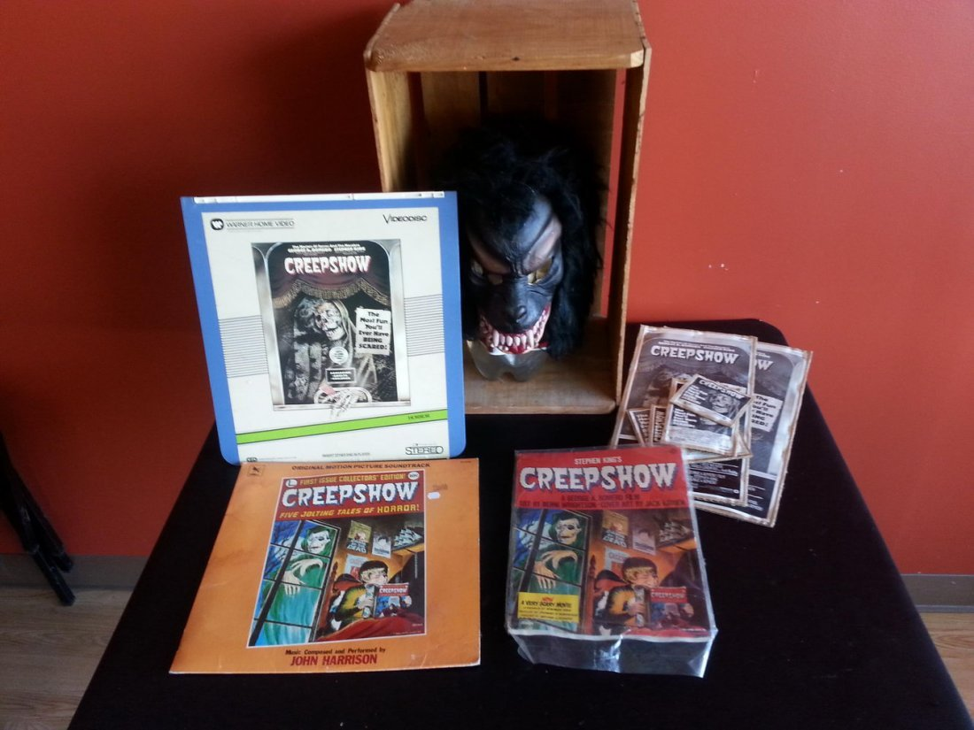 CREEP SHOW LOT TO INCLUDE FLUFFY MASK ,FILMBOOK,LAZER