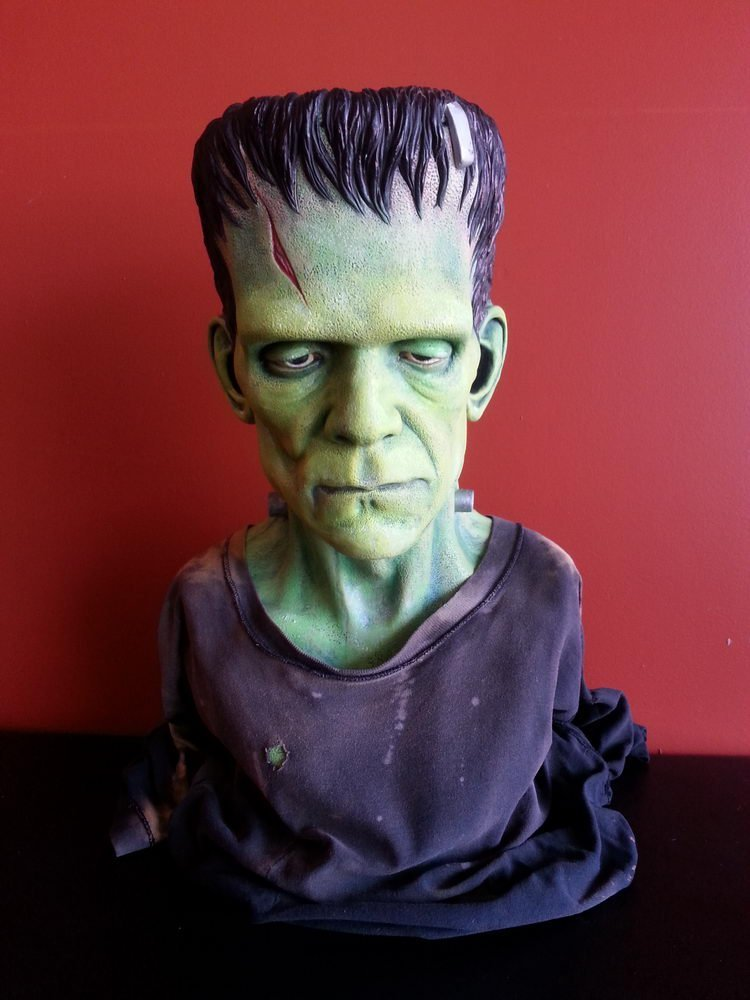 FIBERGLASS FRANKENSTEIN DISPLAYBUST PROFESSIONALLY