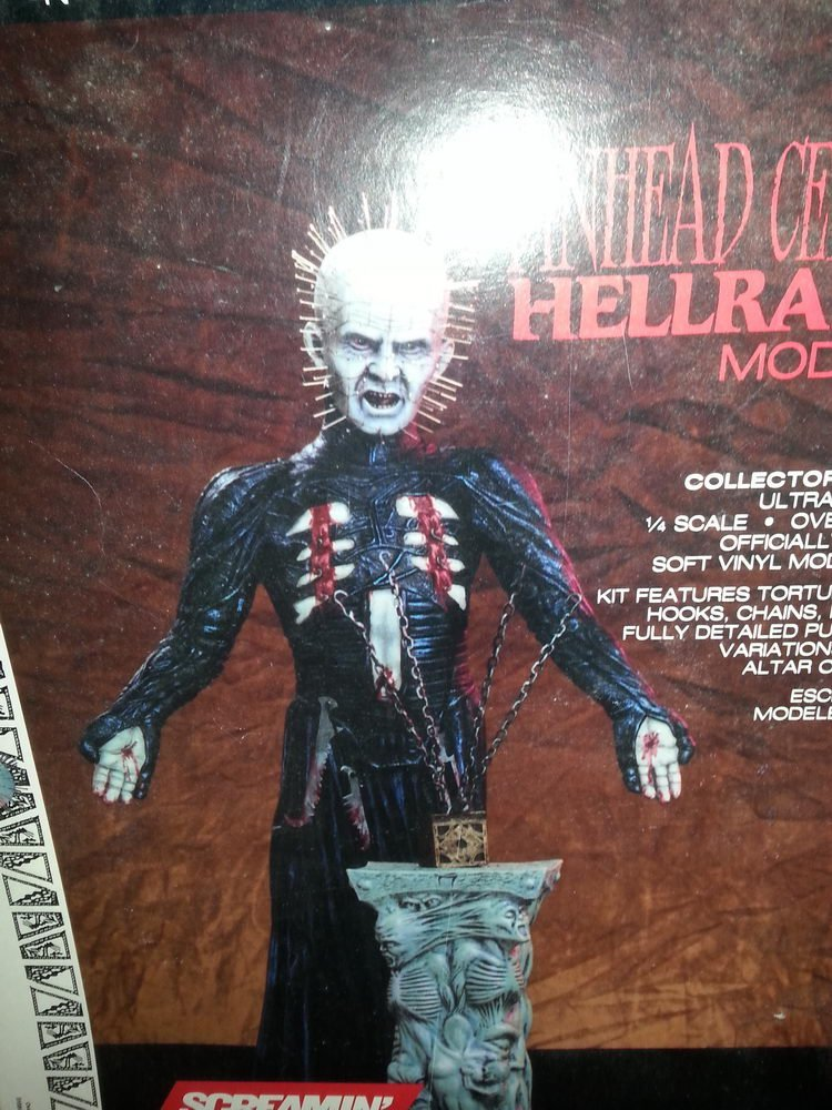 """SCREAMIN"" PINHEAD CENOBITE HELLRAISER MODEL KIT - BOX - 4"