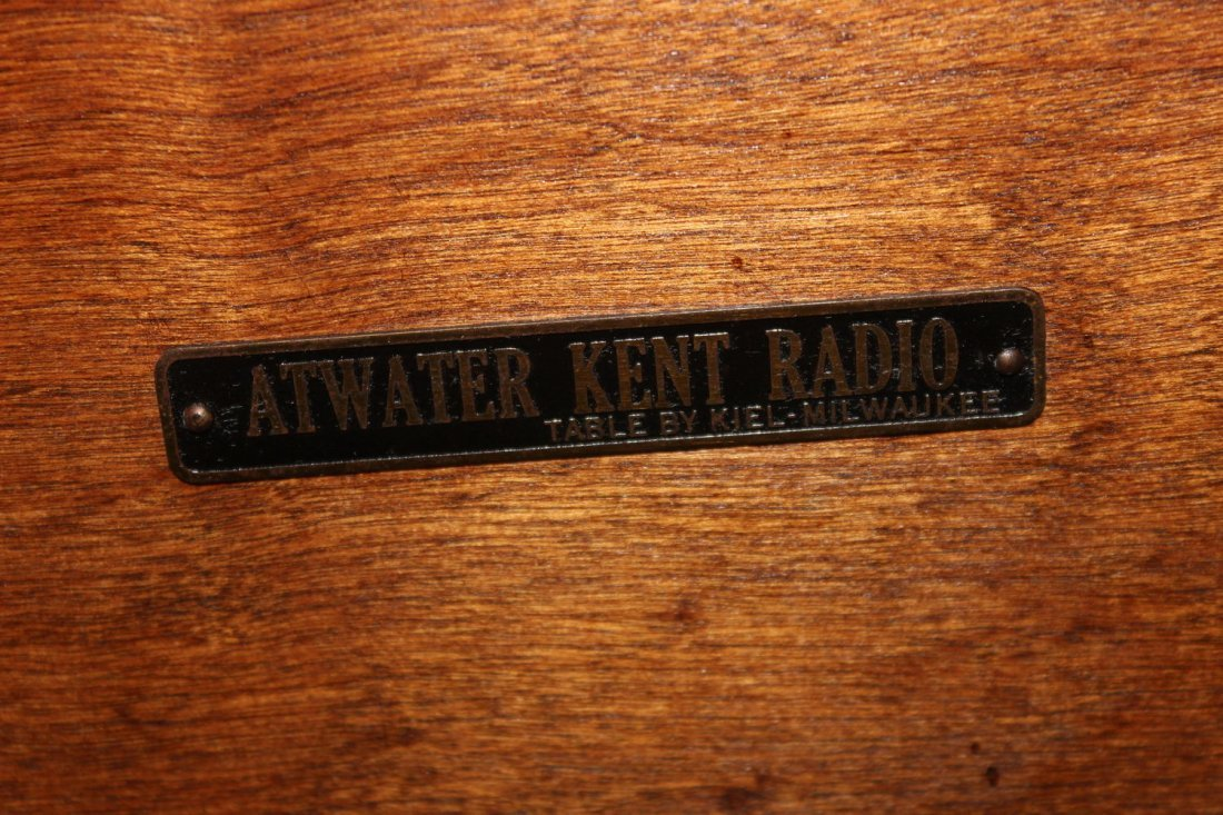 TERRIFIC TOP ATWATER KENT RADIO W/ WITH LIFT TOP AND - 6