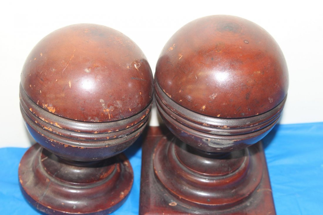 2 MATCHING POST FINIALS FOR STAIRCASE - GOOD CONDITION - 2