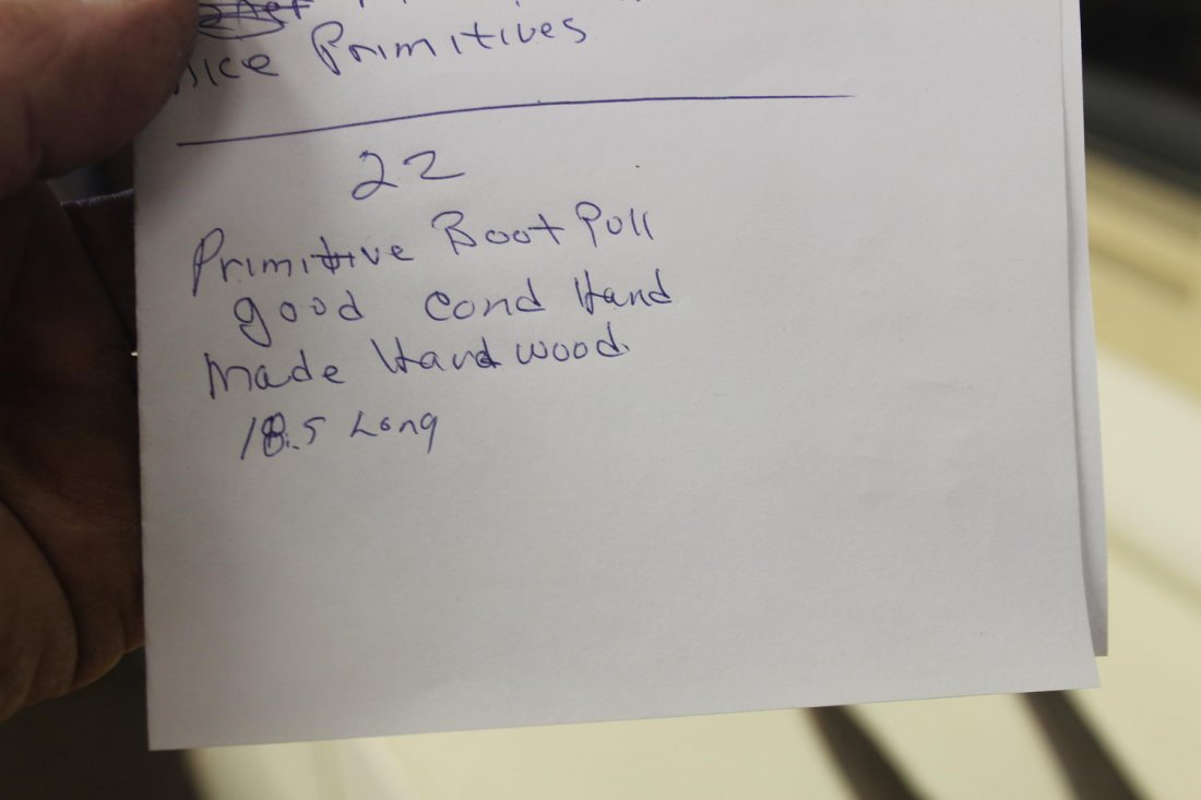 PRIMITIVE BOOT PULL GOOD CONDITION HANDMADE HARDWOOD - 4