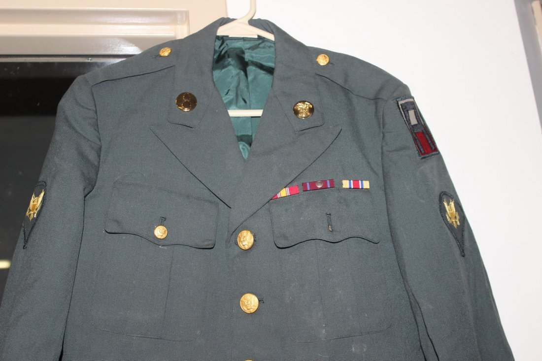 U.S. ARMY DRESS GREENS JACKET FROM THE 60S GOOD - 2