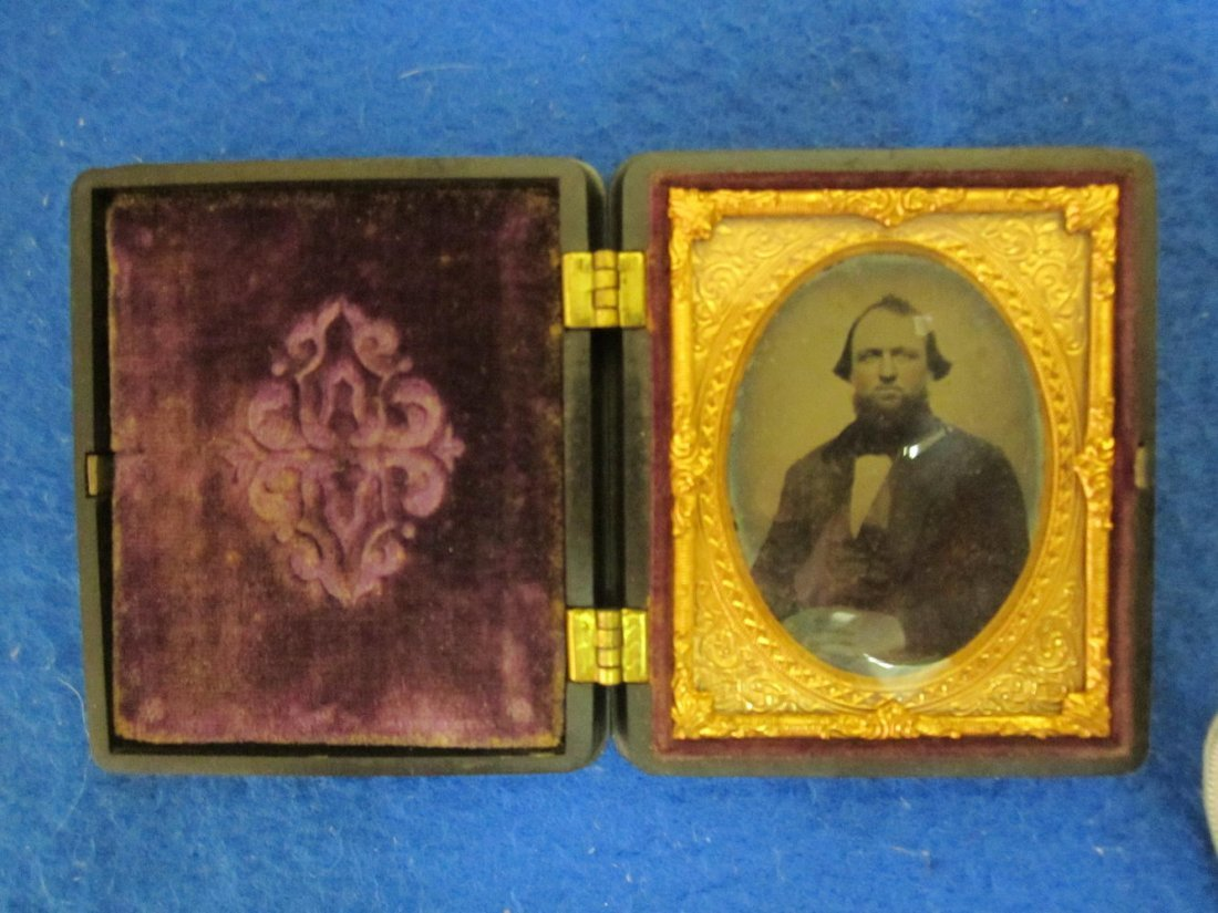 THE BEST 2.5 X 3 DAGUERREOTYPE UNION CASE CIR. 1857