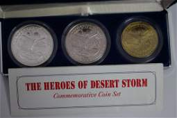 1991 THE HEROES OF DESERT STORM COMMEMORATIVE COIN SET