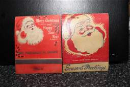 2 BEAUTIFUL OLD LARGE ADVERTISING MATCHBOOKS - 1 NEVER