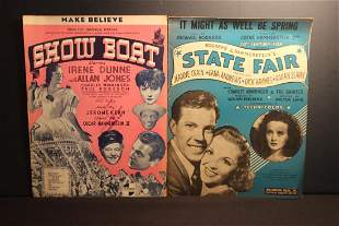 2 NICE PIECES OF SHEET MUSIC SHOWBOAT 1927 AND 1945
