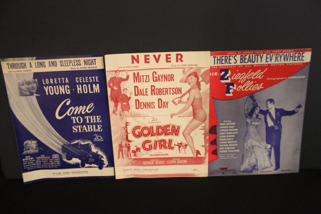 3 EXCELLENT PIECES OF MOVIE SHEET MUSIC GOLDEN GIRLS
