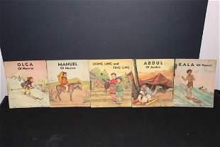 5 AROUND THE WORLD CHILDREN'S BOOKS GOOD CONDITION