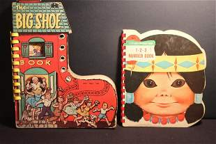 2 NICE CHILDREN'S BOOKS THE BIG SHOE 1956 - INDIAN 1965