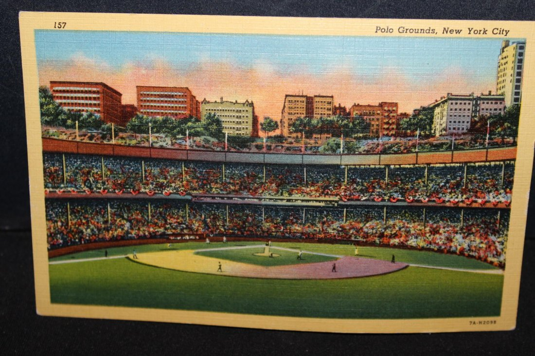 POSTCARD OF NEW YORK CITY'S POLO GROUNDS LONG GONE NOW-