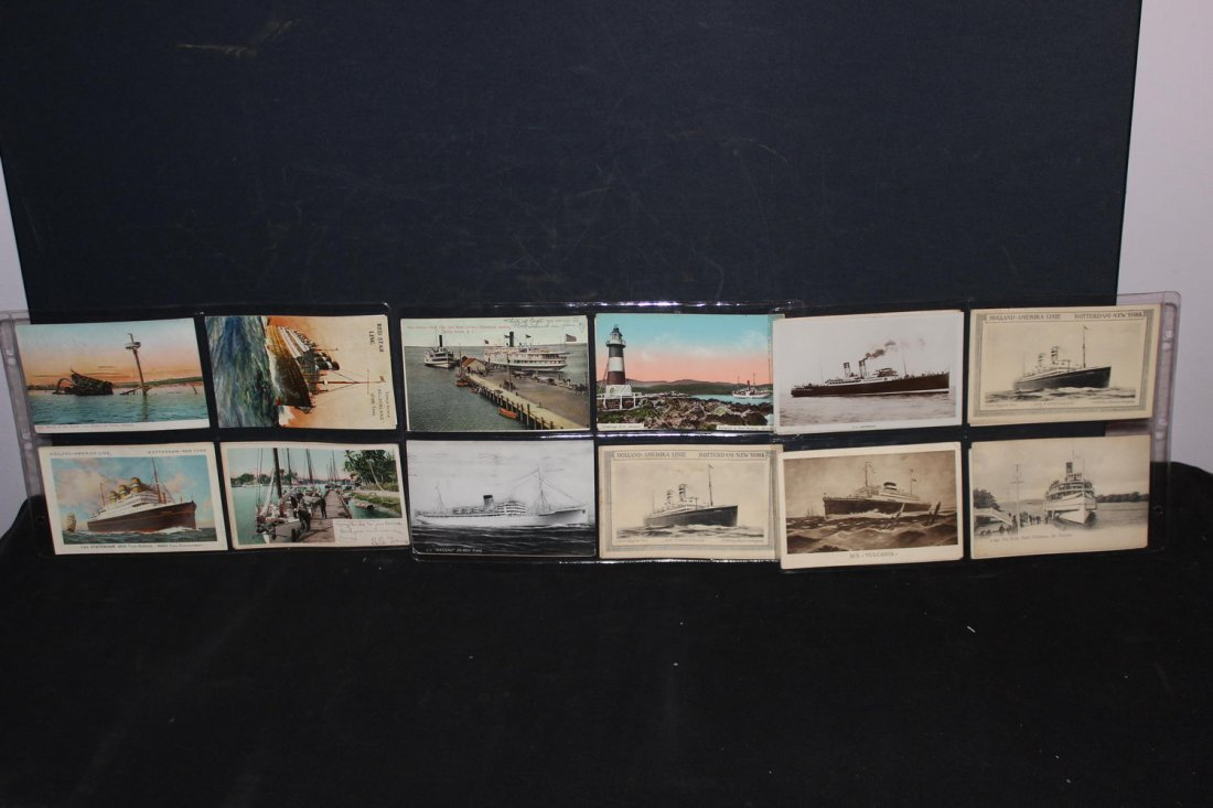 19 OLD POSTCARDS OF SHIPS ALL IN EXCELLENT CONDITION