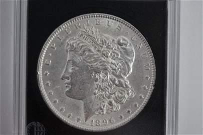 1896 MORGAN SILVER DOLLAR B.U.