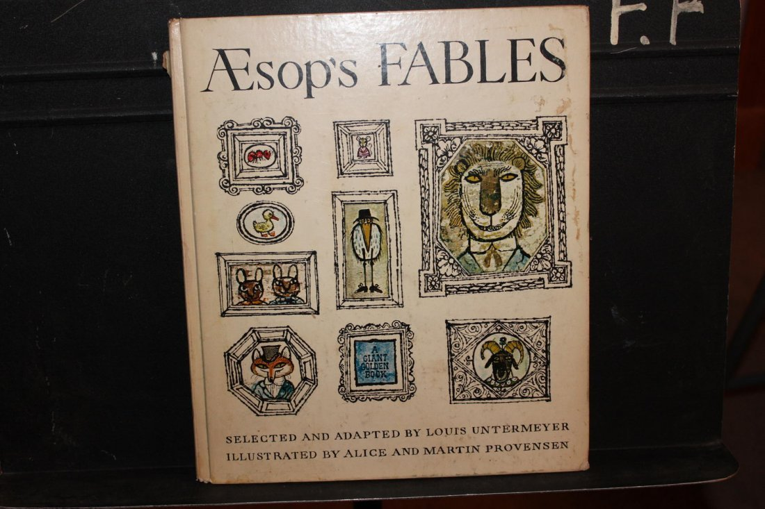 AESOPS TABLES BY LEWIS UNTERMEYER  FULLY ILLUSTRATED