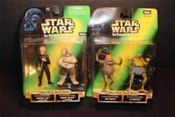 1998 2 PIECE STAR WARS MAX REBO BAND 4 FIGURES POWER OF