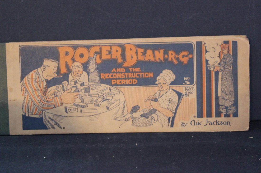 MOST UNUSUAL CARTOON BOOK TITLED ROGER BEAN - R.G. IN