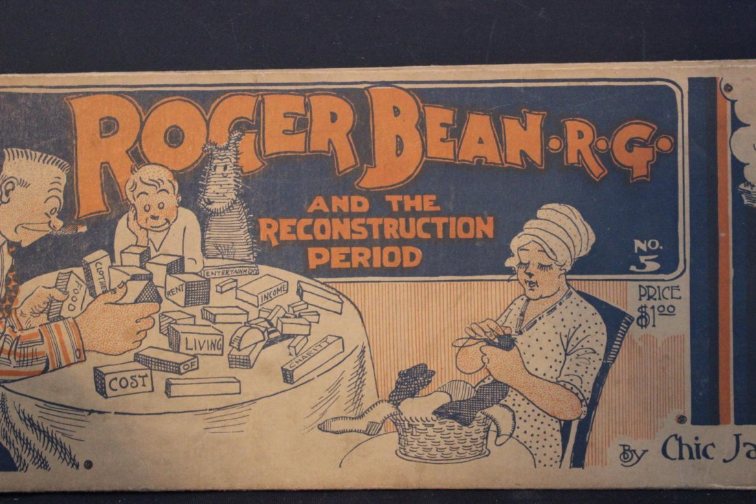MOST UNUSUAL CARTOON BOOK TITLED ROGER BEAN - R.G. IN - 2