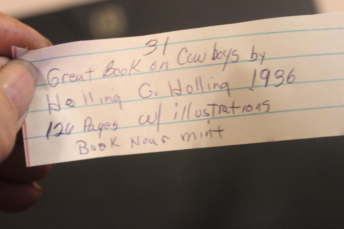 GREAT BOOK ON COWBOYS BY HOLLING C HOLLING 1936 126 - 8