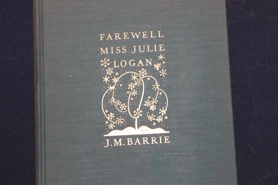 NICE BOOK BY JM BARRIE FAREWELL MISS JULIE LOGAN 103 - 2