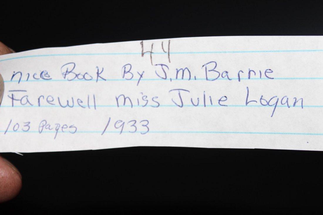NICE BOOK BY JM BARRIE FAREWELL MISS JULIE LOGAN 103 - 4