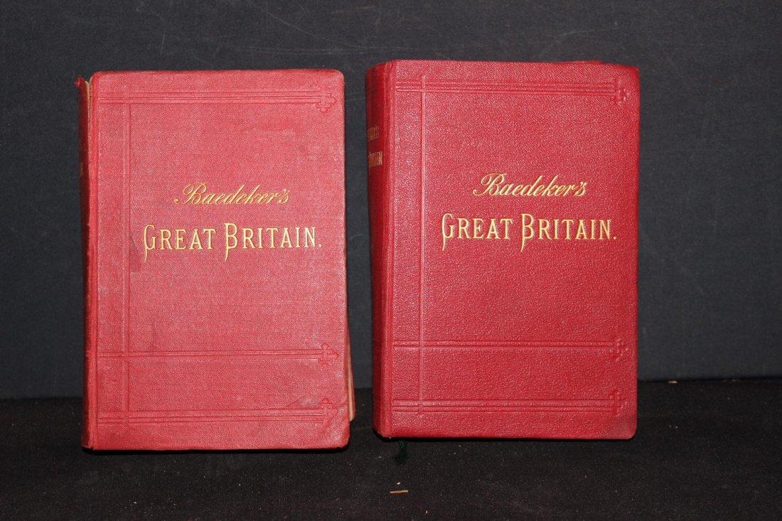 2 TRAVELERS HANDBOOKS ON GREAT BRITAIN 1887 - 1897 BOTH